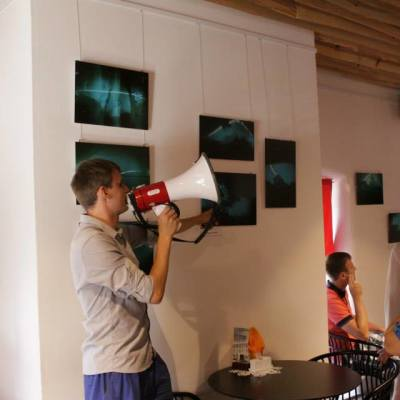 Johan Huimerind Solarograafia workshop opening